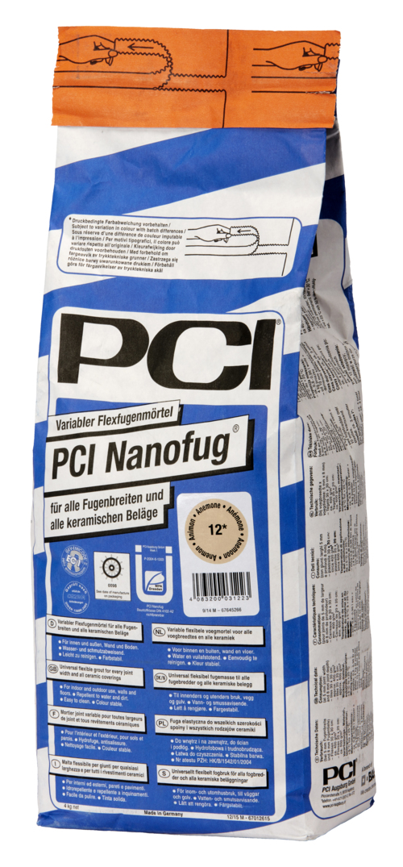 PCI Nanofug, variabler Flexfugenmörtel, insbesondere für Steingut- und Steinzeugbeläge, Nr. 31 zementgrau, 4 kg