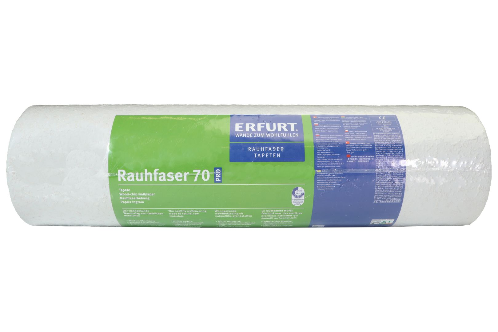 ERFURT Rauhfaser Tapete 70 Pro, abwechslungsreiche Struktur, 33,5 x 0,53 m, ausreichend für 17,7 m², 1 Rolle