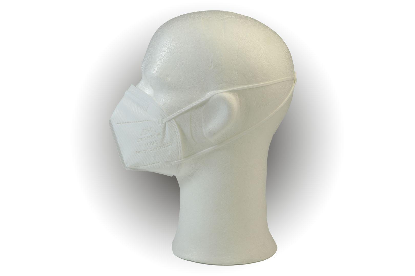 Feinstaub Schutzmaske FFP2, NR faltbar, geprüft und CE-zertifiziert, 6-er Pack