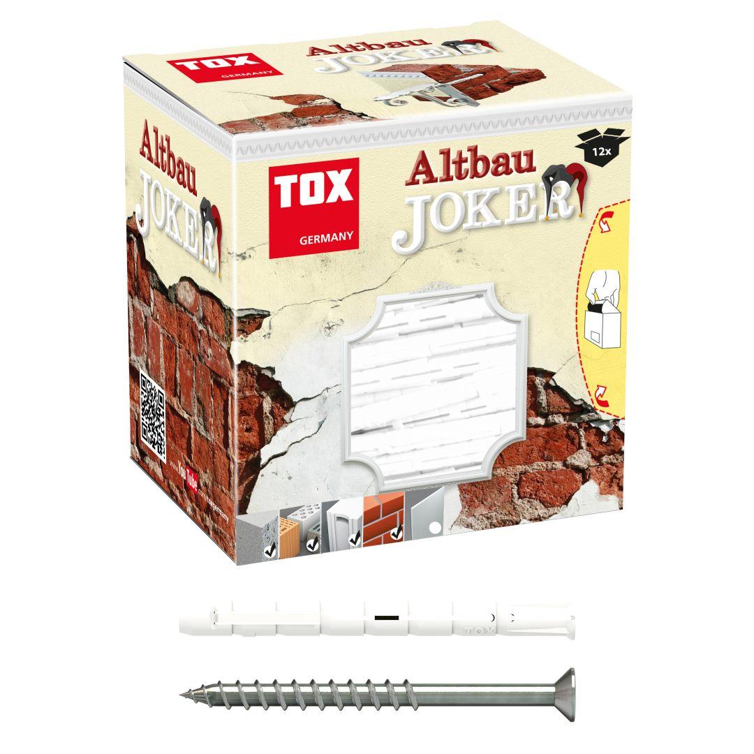 TOX Allzweck-Spreizdübel + Schraube Altbaujoker 8/90 mm KT, 12 Stück
