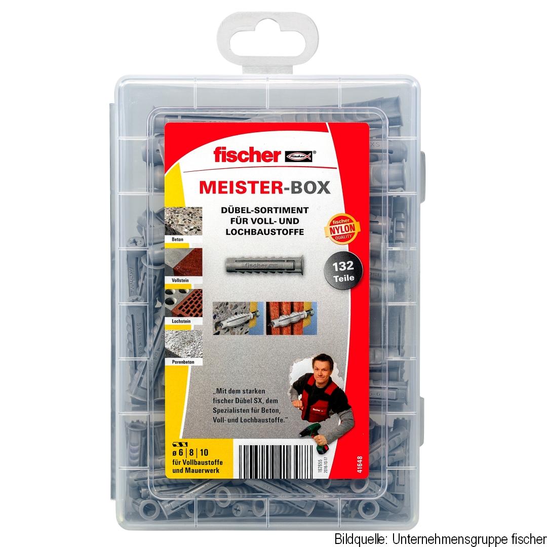 fischer Meisterbox SX Dübel, SX6, SX8, SX10, 132 Stück im Set
