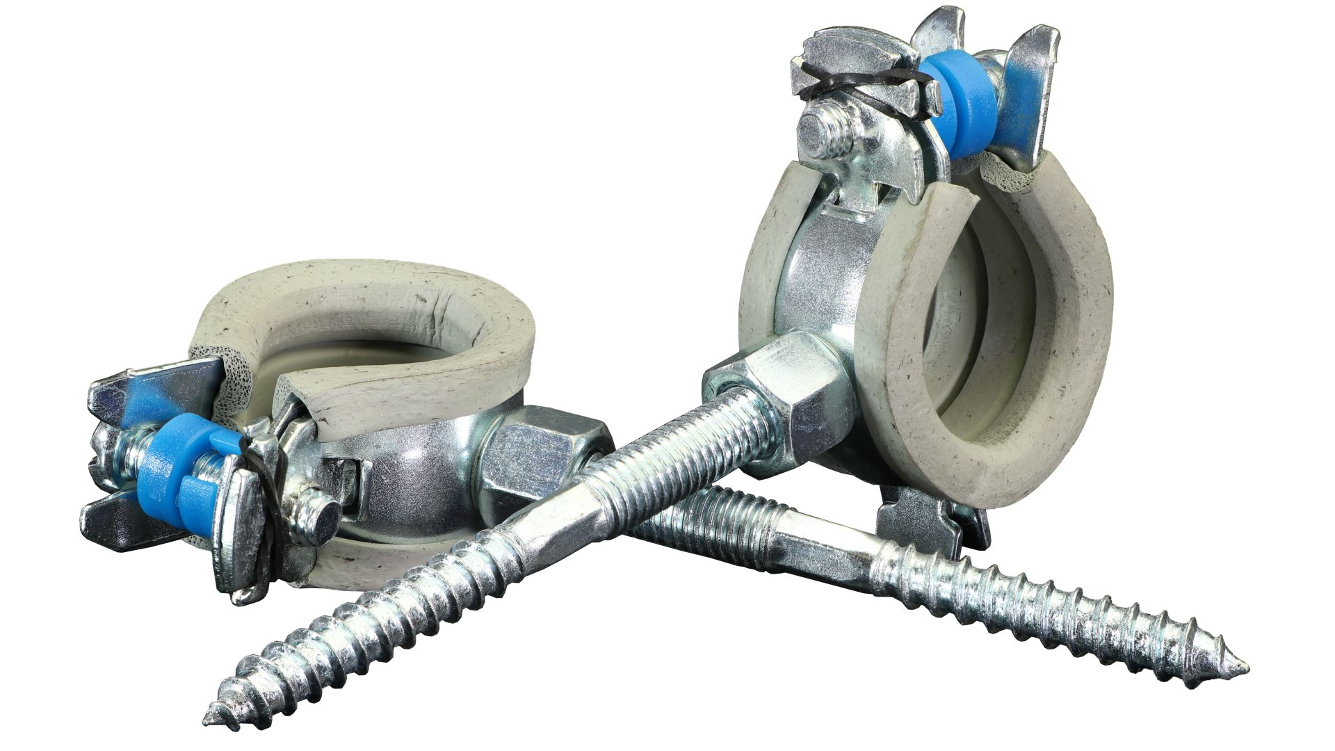Marley DreMa (TW) Schallschutzschelle für 20 mm Rohre inkl. Stockschraube M8 x 80 (Nr. 90), 2-er Set