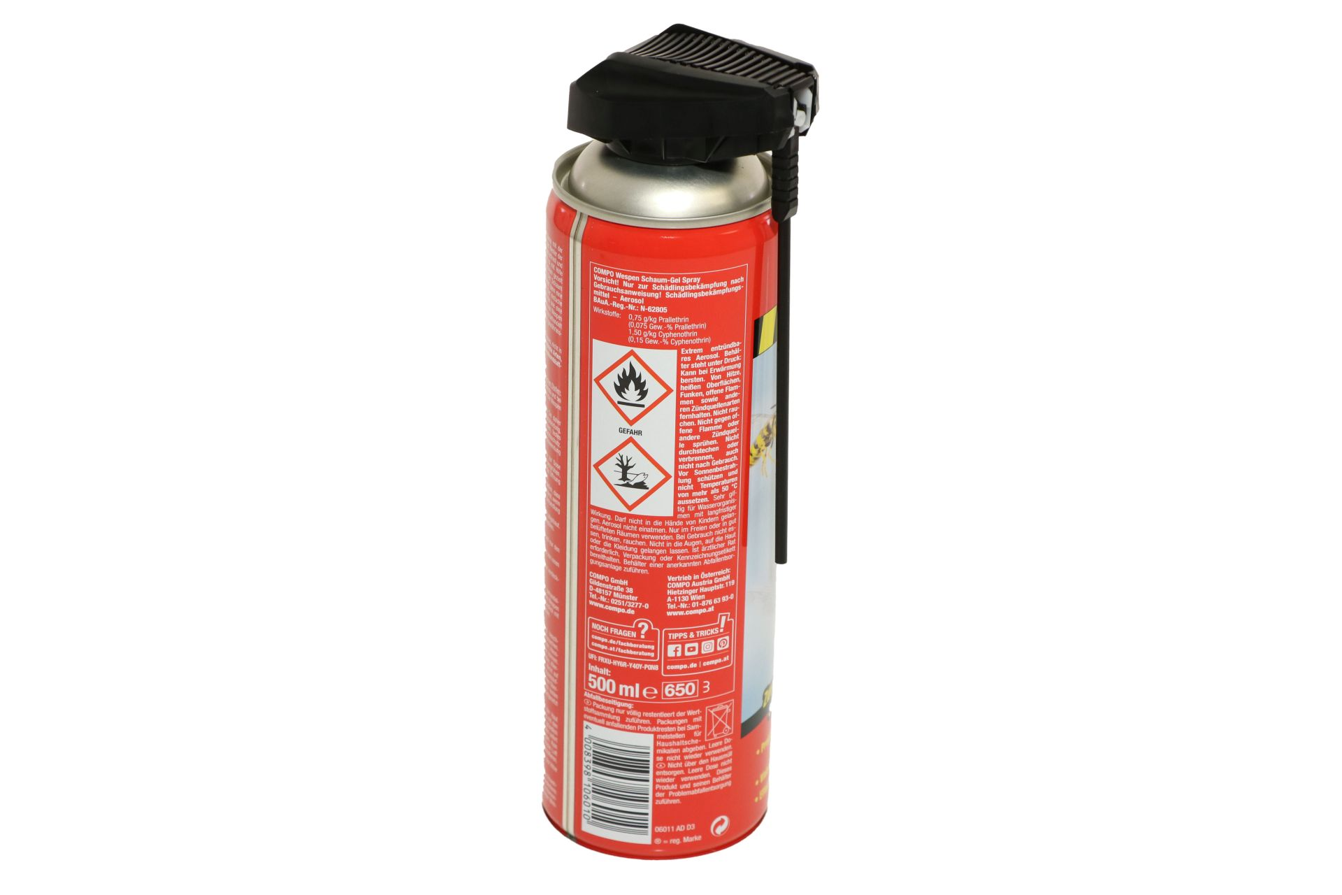 COMPO Wespen Schaum-Gel Spray, 500 ml