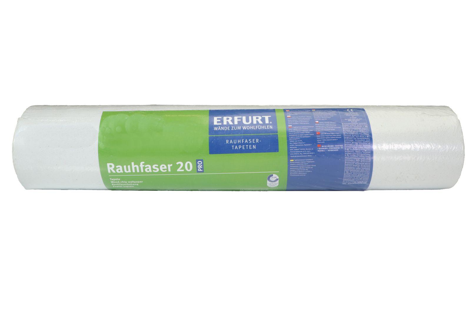 ERFURT Rauhfaser Tapete 20 Pro, feine Struktur, 33,5 x 0,53 m, ausreichend für 17,755 m², 1 Rolle