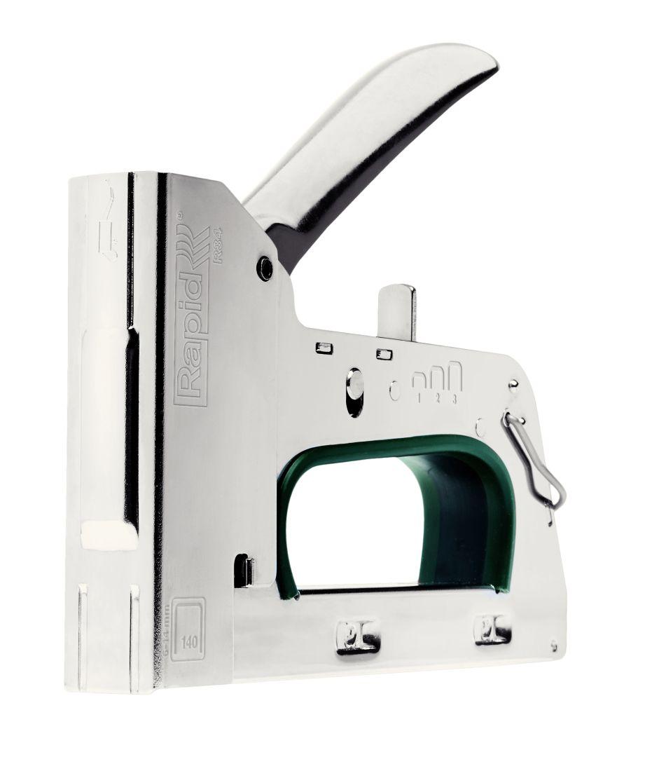 Rapid PRO R34E Handtacker, für Flachdrahtklammern, für Heftklammern Typ 140, 6 - 14 mm Schenkellänge