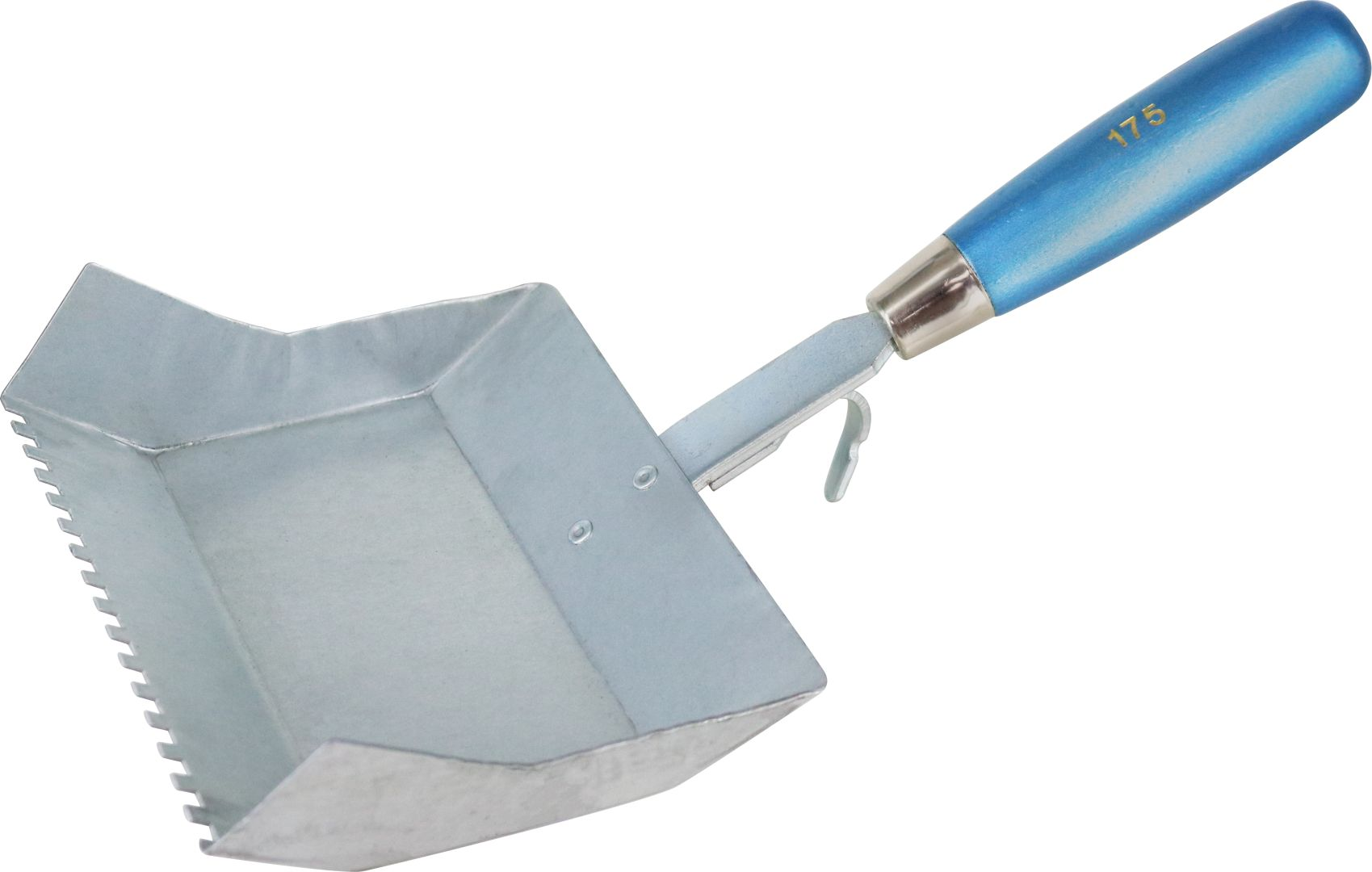 TRIUSO Klebekelle für Kalksandstein, Griff aus Kunststoff und Metall, halbrundzahnung, Blattbreite 240 mm