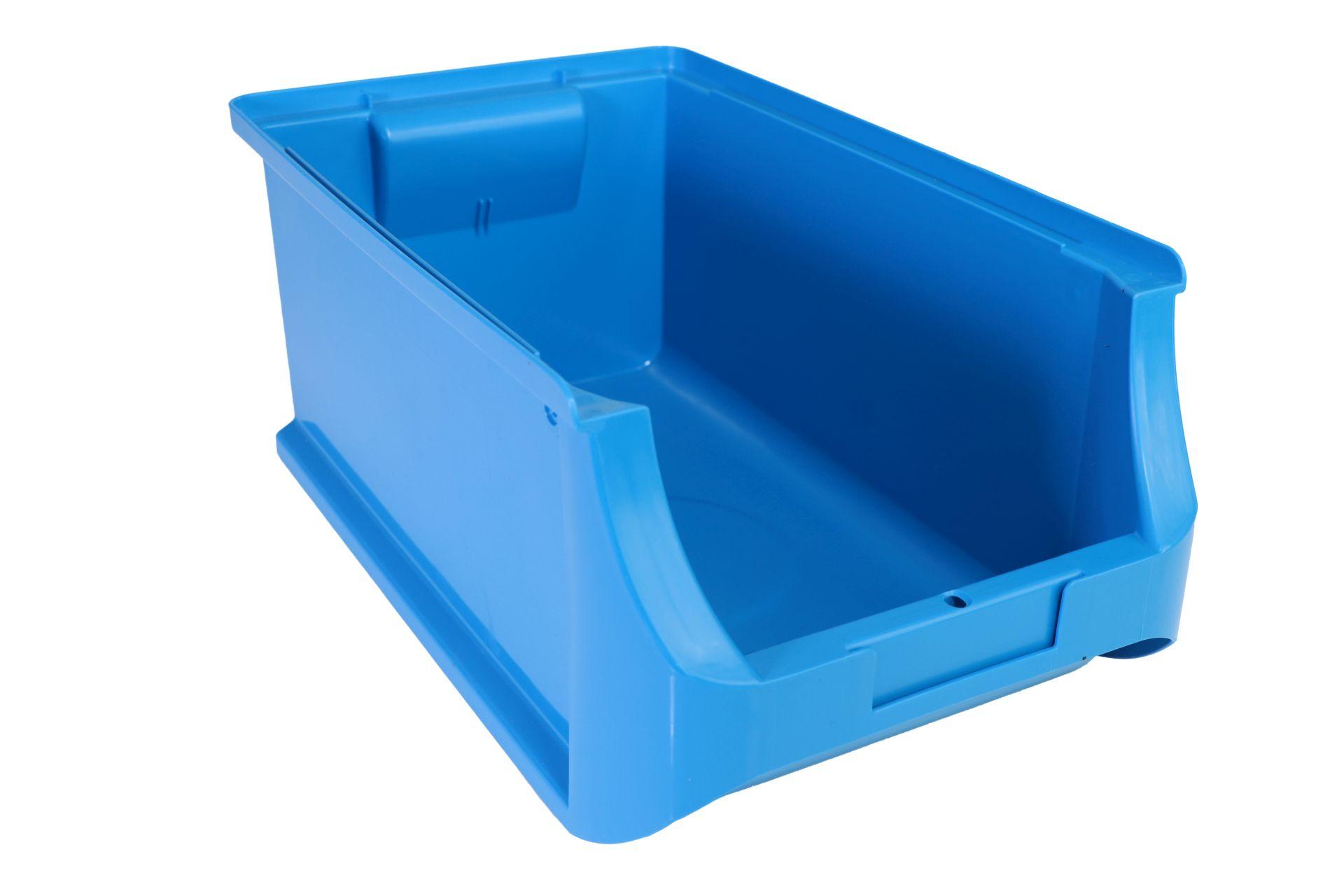 Allit Sichtlagerkasten ProfiPlus Box 4, aus PP, stapelbar, blau, 1 Stück ohne Etikett