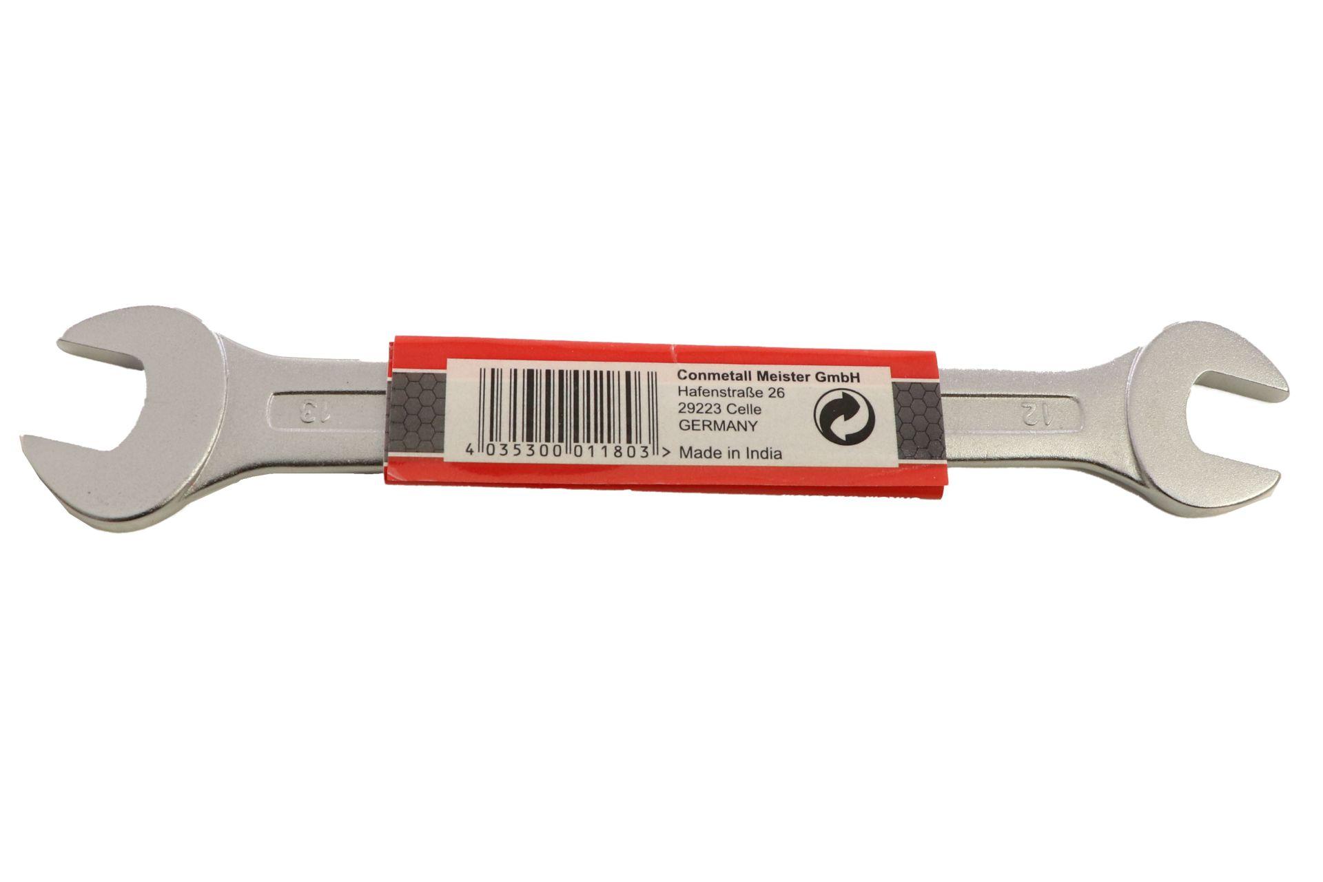 Conmetall Gabelschlüssel, Chrom-Vanadium-Stahl, 12 x 13 mm