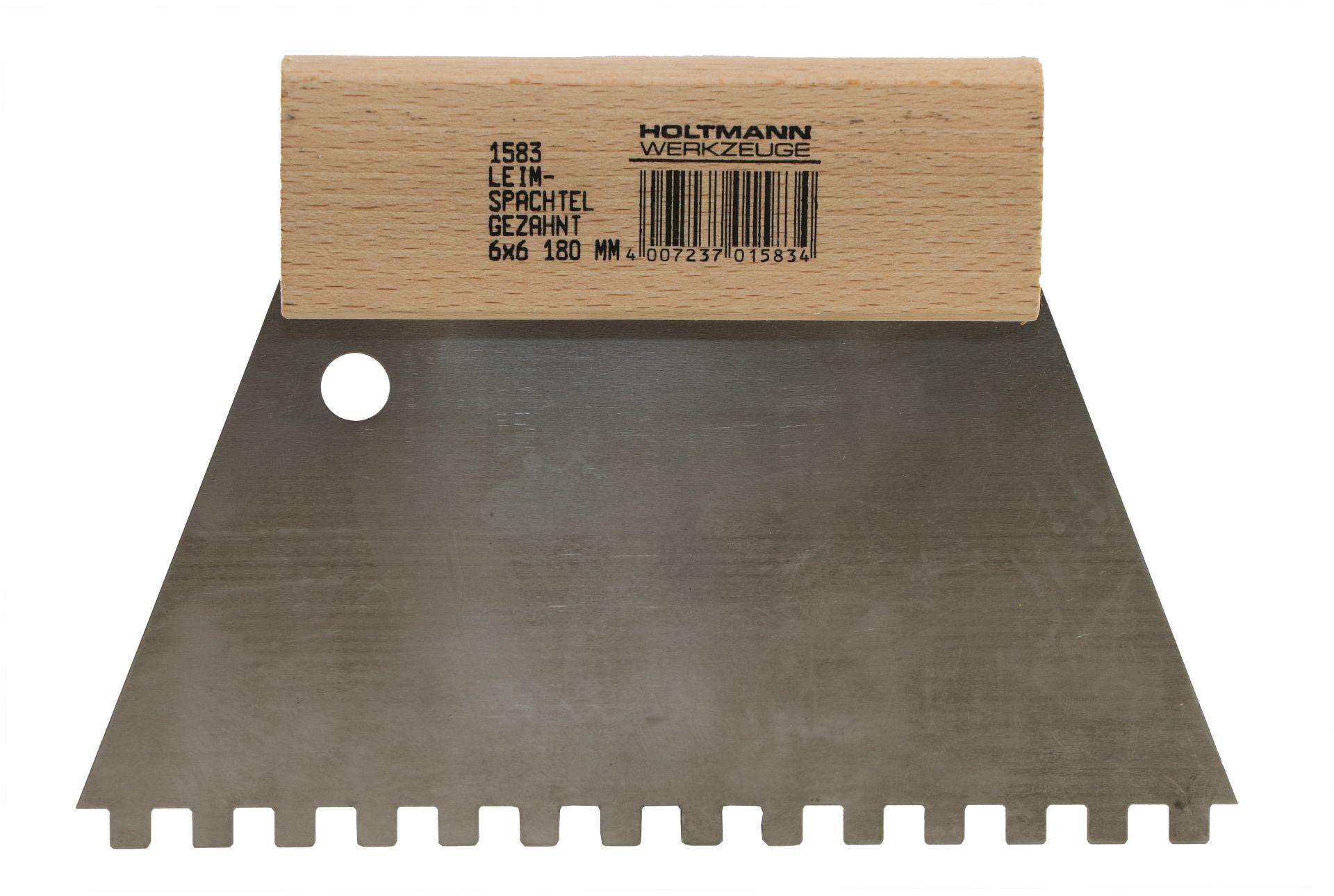 HUFA Leimspachtel, Klebespachtel, Kleberspachtel, Blattbreite 180 mm, Zahnung 6 x 6 mm