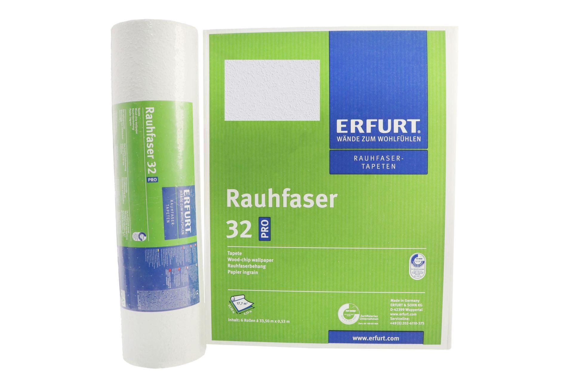 Erfurt Rauhfaser 32 Pro Tapete, 33,5 x 0,53 m, ausreichend für 17,7 m², 6 Rollen im Karton