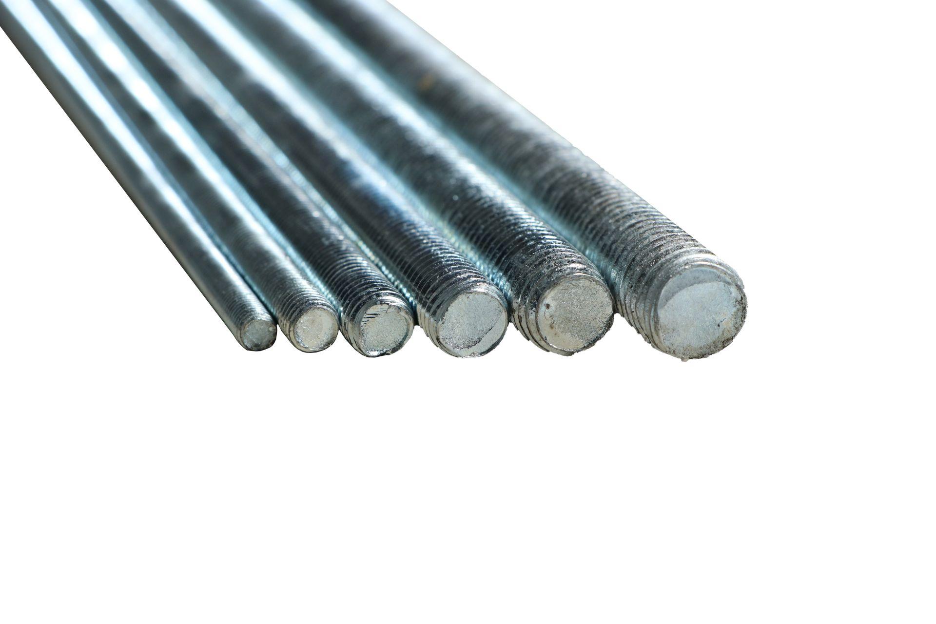 GAH Gewindestange Stahl, galvanisch blau verzinkt, M12 x 1000 mm