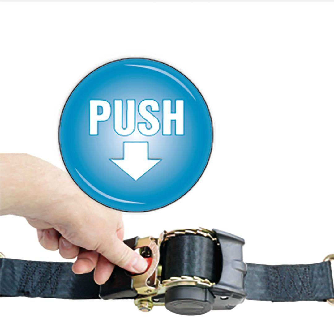 CONNEX Zurrgurt Automatik mit Ratsche und Haken, 3,5 m x 25 mm, bis  600 kg