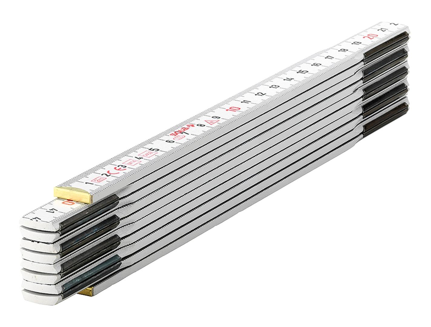 SOLA Holz-Meterstab HW 2/10, weiß, EG-Klasse 3, 2 m
