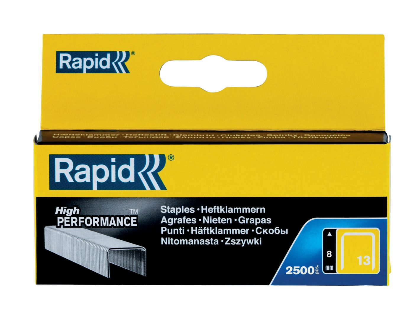 Rapid High PERFORMANCE Heftklammern, Typ 13, 8 mm Schenkellänge, 2.500 Stück