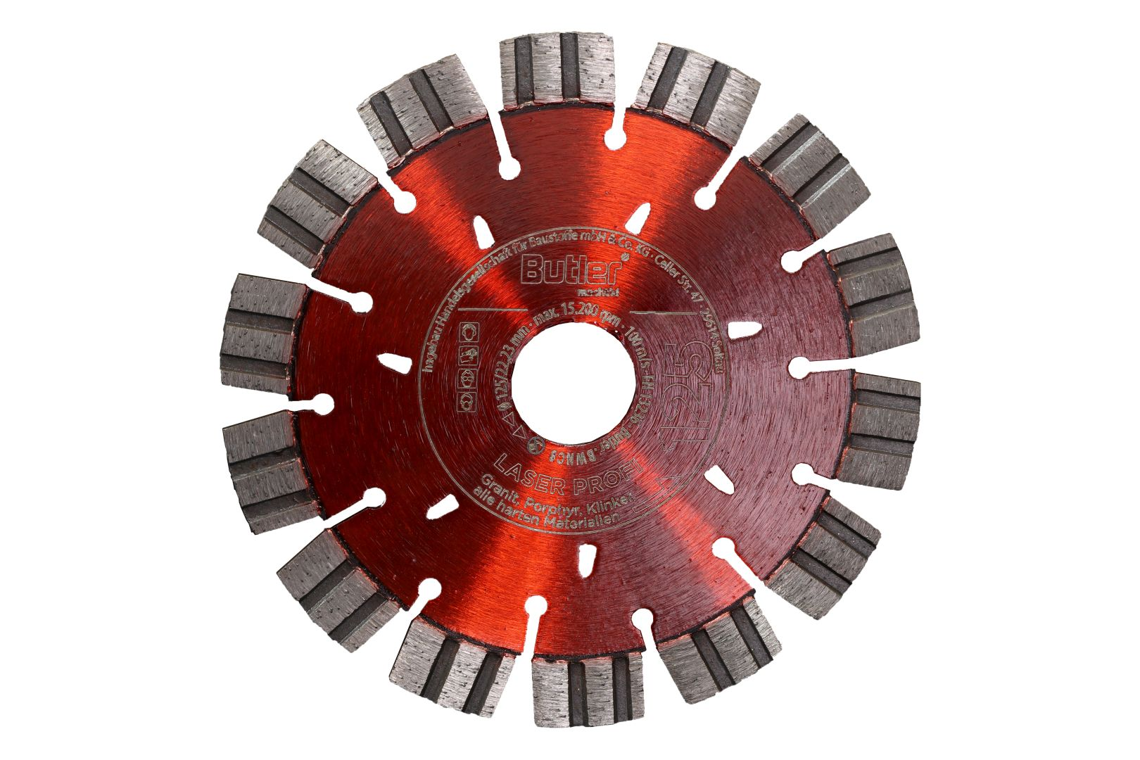 Butler macht's! Diamant-Trennscheibe Laser Profi, Bohrung: 22,23 mm, Ø 125 mm