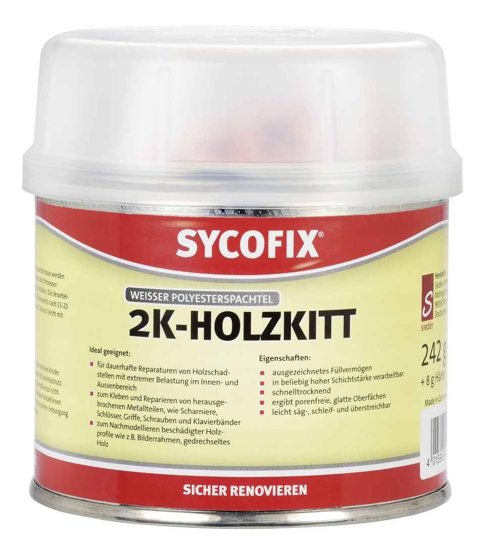 SYCOFIX 2K Holzkitt 250 g (inkl. 8 g Härter)