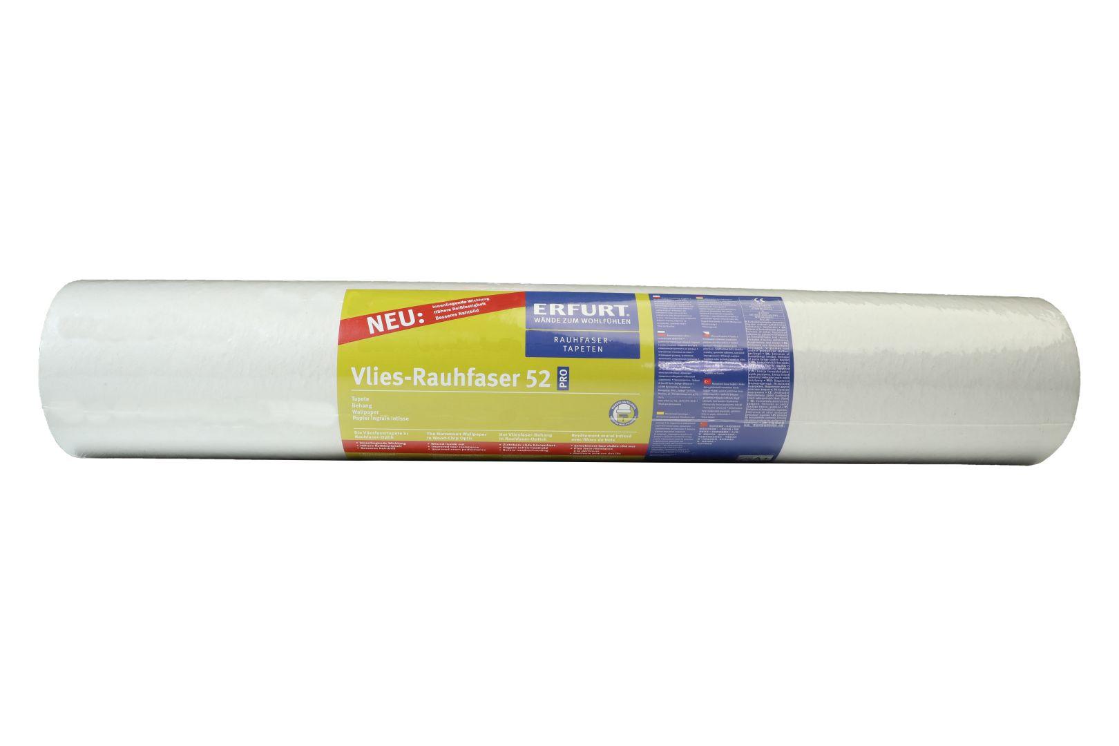 ERFURT Vlies-Rauhfaser Tapete 52 Pro, klassische Struktur, 25 x 0,75 m, ausreichend für 18,75 m², Rolle
