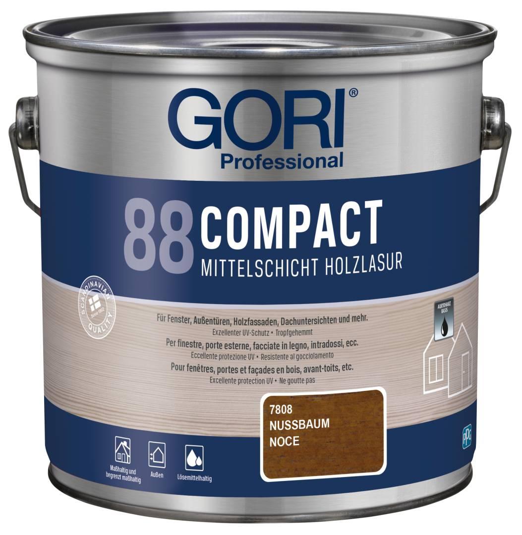 GORI Professional 88 COMPACT, Mittelschicht-Holzlasur, nussbaum, 2,5 l