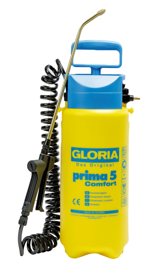 GLORIA Das Original Drucksprühgerät prima 5 Comfort, max. Betriebsdruck 3 bar, Füllinhalt 5 l