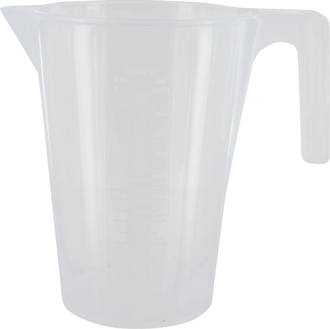 TRIUSO Messbecher aus Kunststoff, mit Maßskala, Inhalt 1,0 l