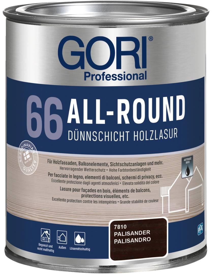 GORI Professional 66 ALL-ROUND, Dünnschicht-Holzlasur, palisander, 0,75 l