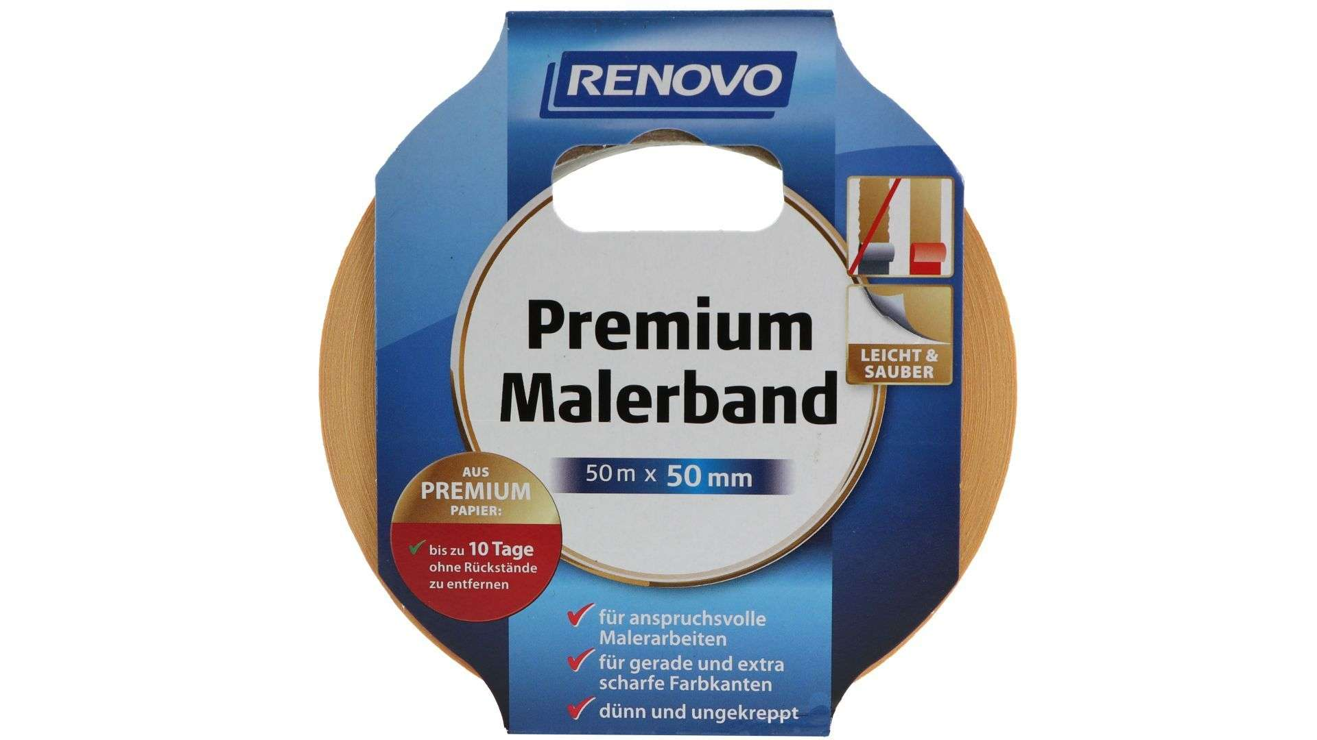 RENOVO Premium Malerband, 50 m x 50 mm