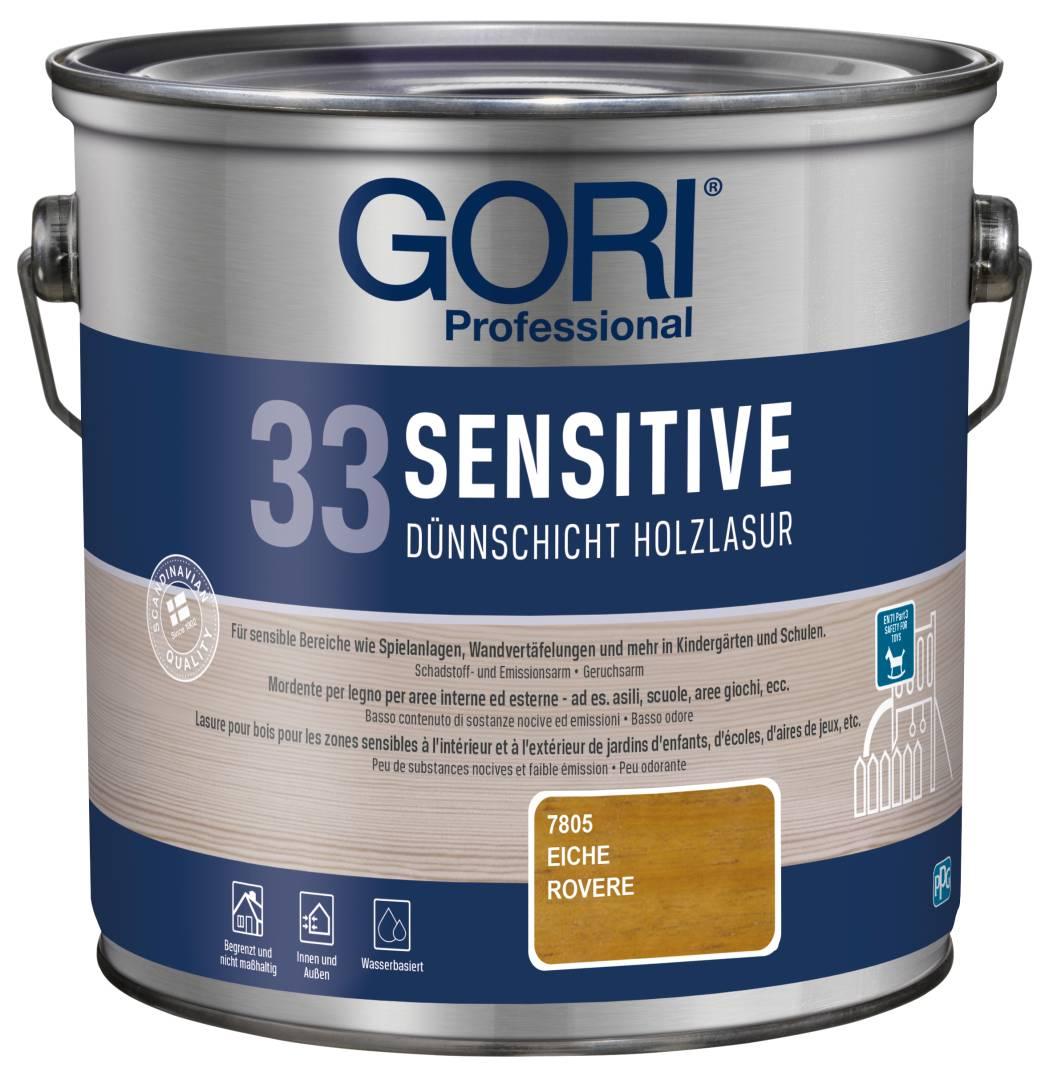GORI Professional 33 SENSITIVE, Dünnschicht-Holzlasur, eiche, 2,5 l