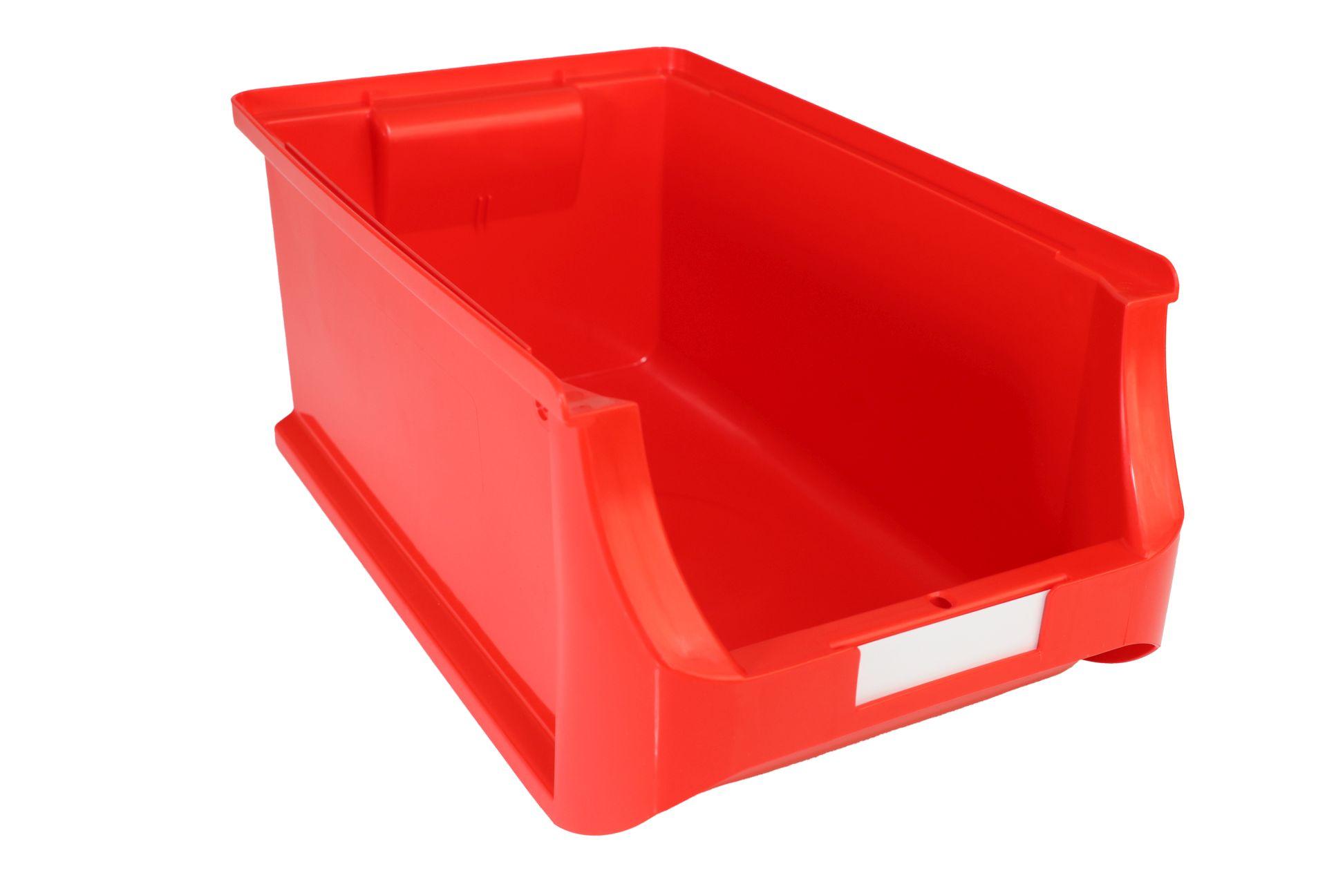 Allit Sichtlagerkasten ProfiPlus Box 4, aus PP, stapelbar, rot, 1 Karton = 12 Stück mit Etiketten
