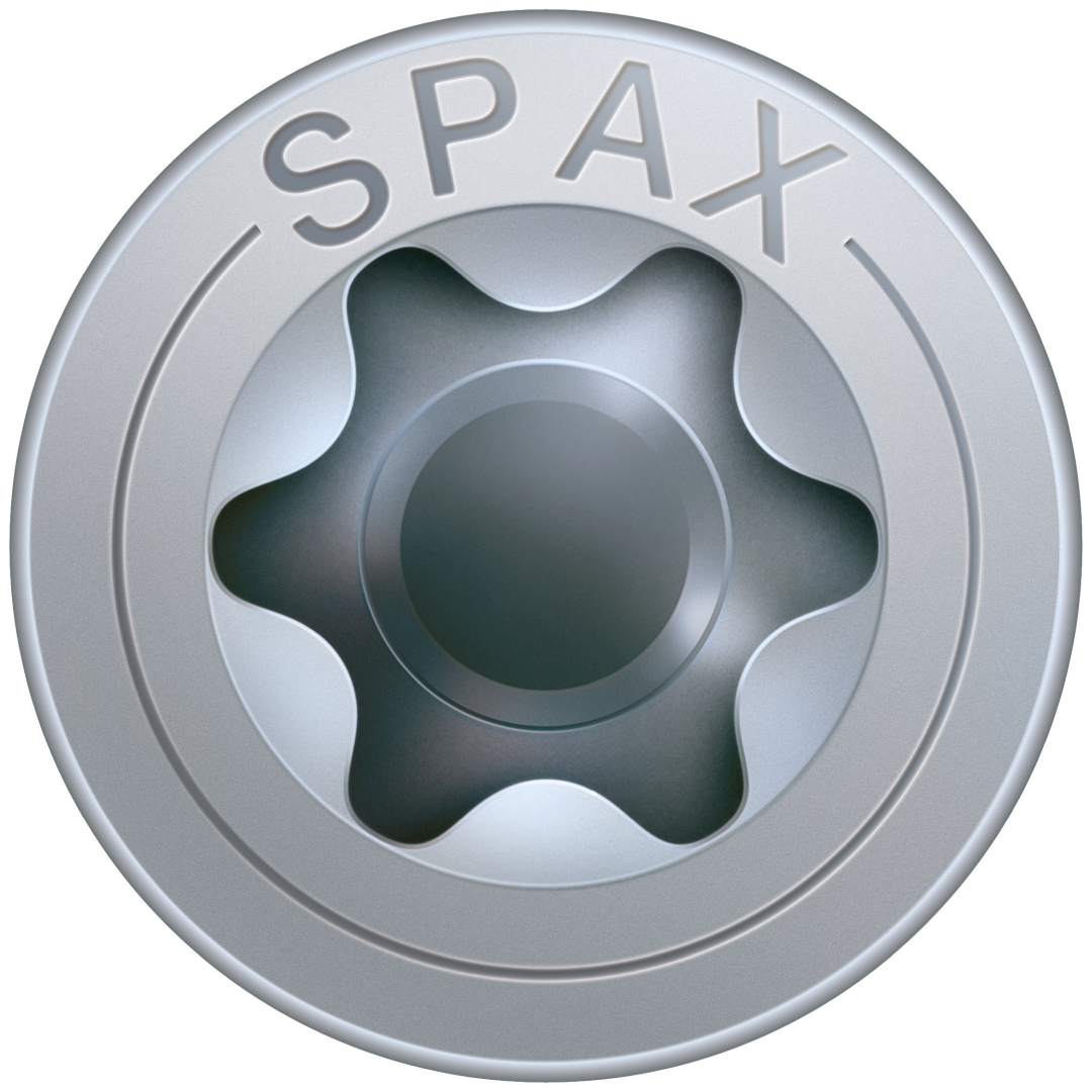 SPAX Universalschraube, Teilgewinde, Senkkopf, T-STAR plus T20, 4CUT, WIROX, 4,5 x 45 mm, 500 Stück