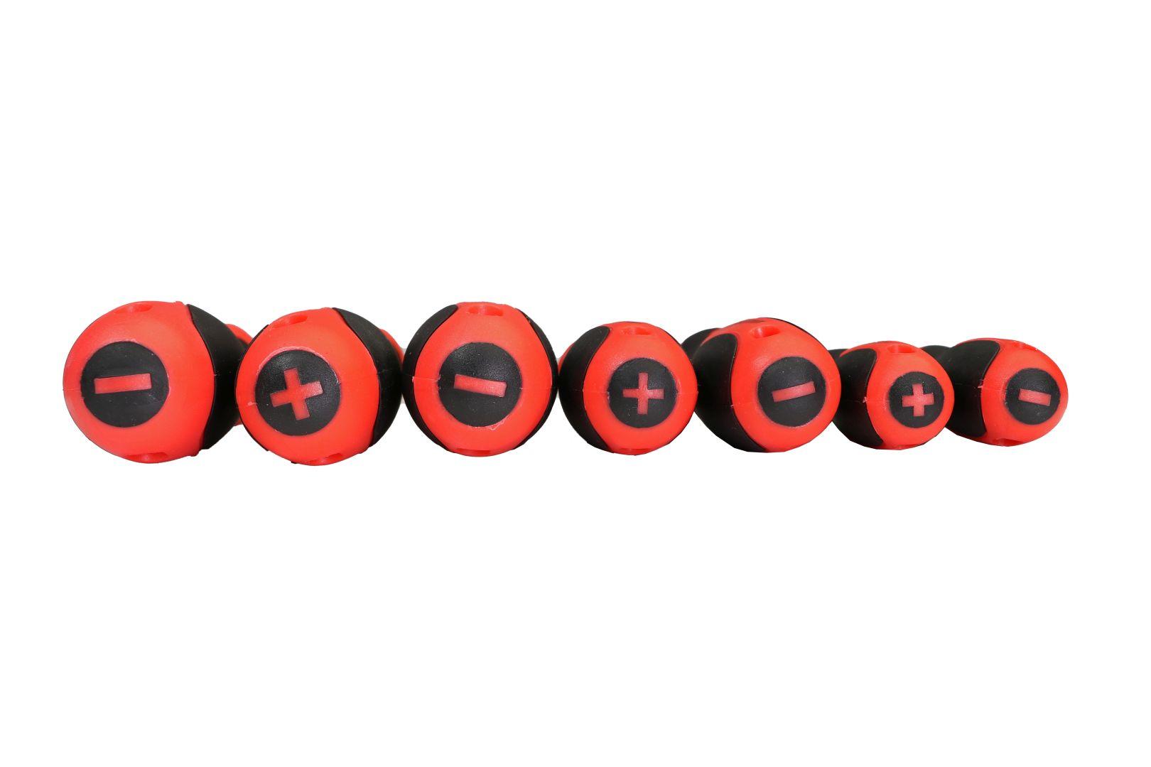 GO/ON Schraubendrehersatz, aus robustem Stahl, mit 2K-Heft, 7-teilig