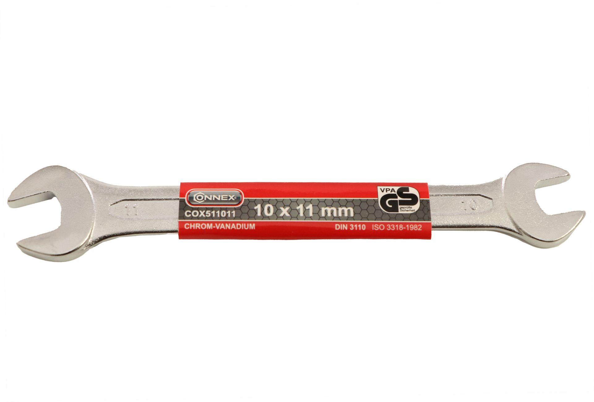 Conmetall Gabelschlüssel, Chrom-Vanadium-Stahl, 10 x 11 mm