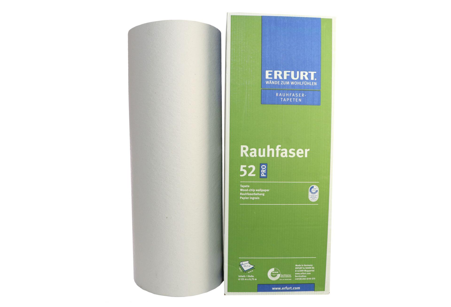 ERFURT Rauhfaser Tapete 52 Pro, klassische Struktur, 125 x 0,75 m, ausreichend für 93,75 m², 1 Großrolle