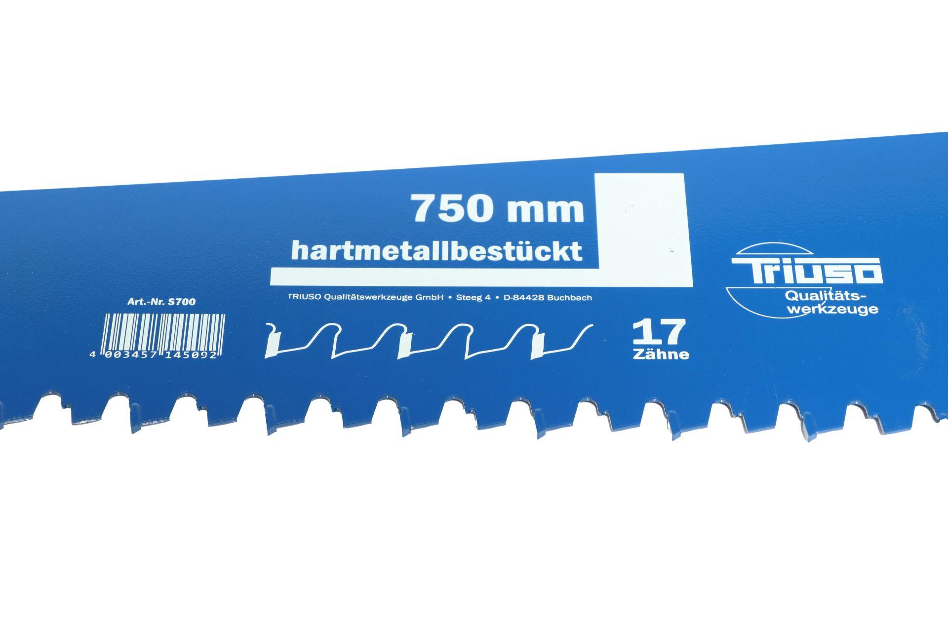 TRIUSO Gasbeton-Handsäge, 17 hartmetallbestückte Zähne, 750 mm