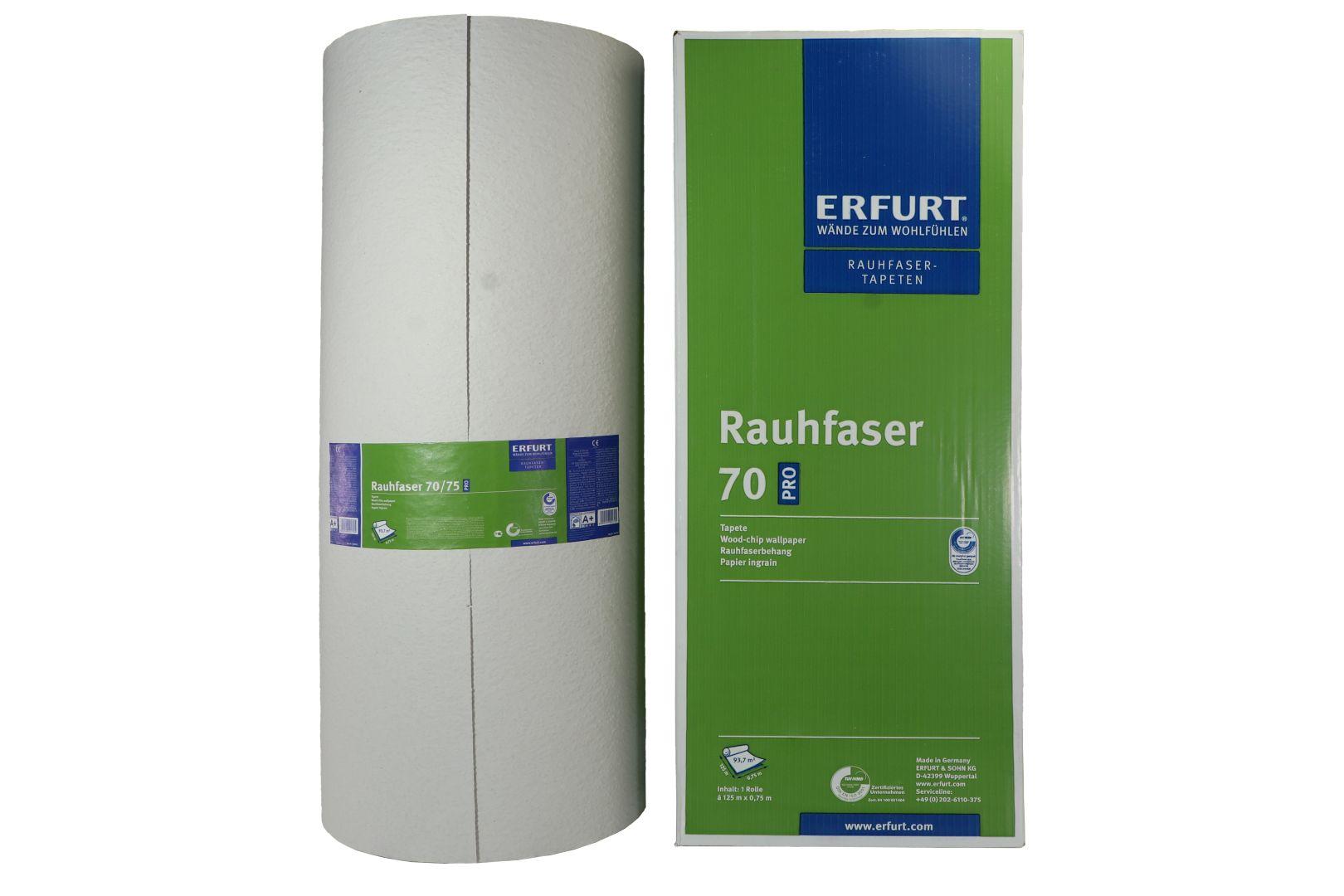 ERFURT Rauhfaser Tapete 70 Pro, abwechslungsreiche Struktur, 125 x 0,75 m, ausreichend für 93,75 m², 1 Großrolle