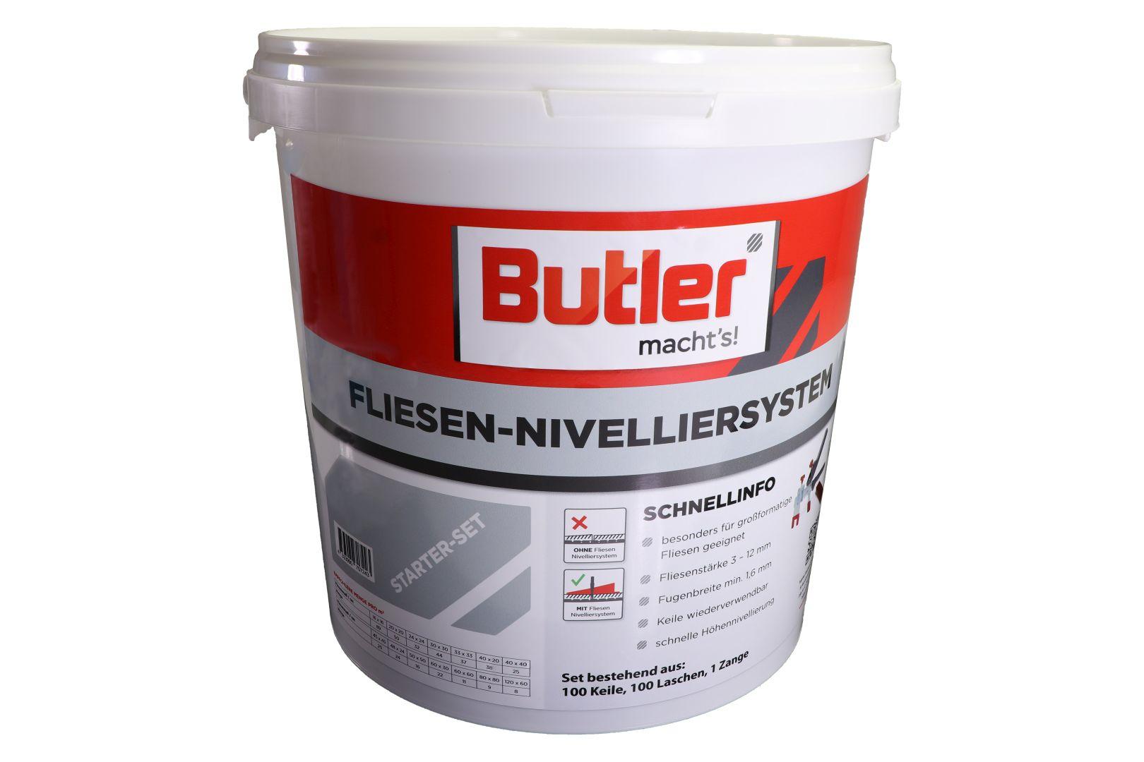Butler macht's! Fliesen-Nivelliersystem Starter-Set, für 1,6 mm Fugenbreite, 201-teilig