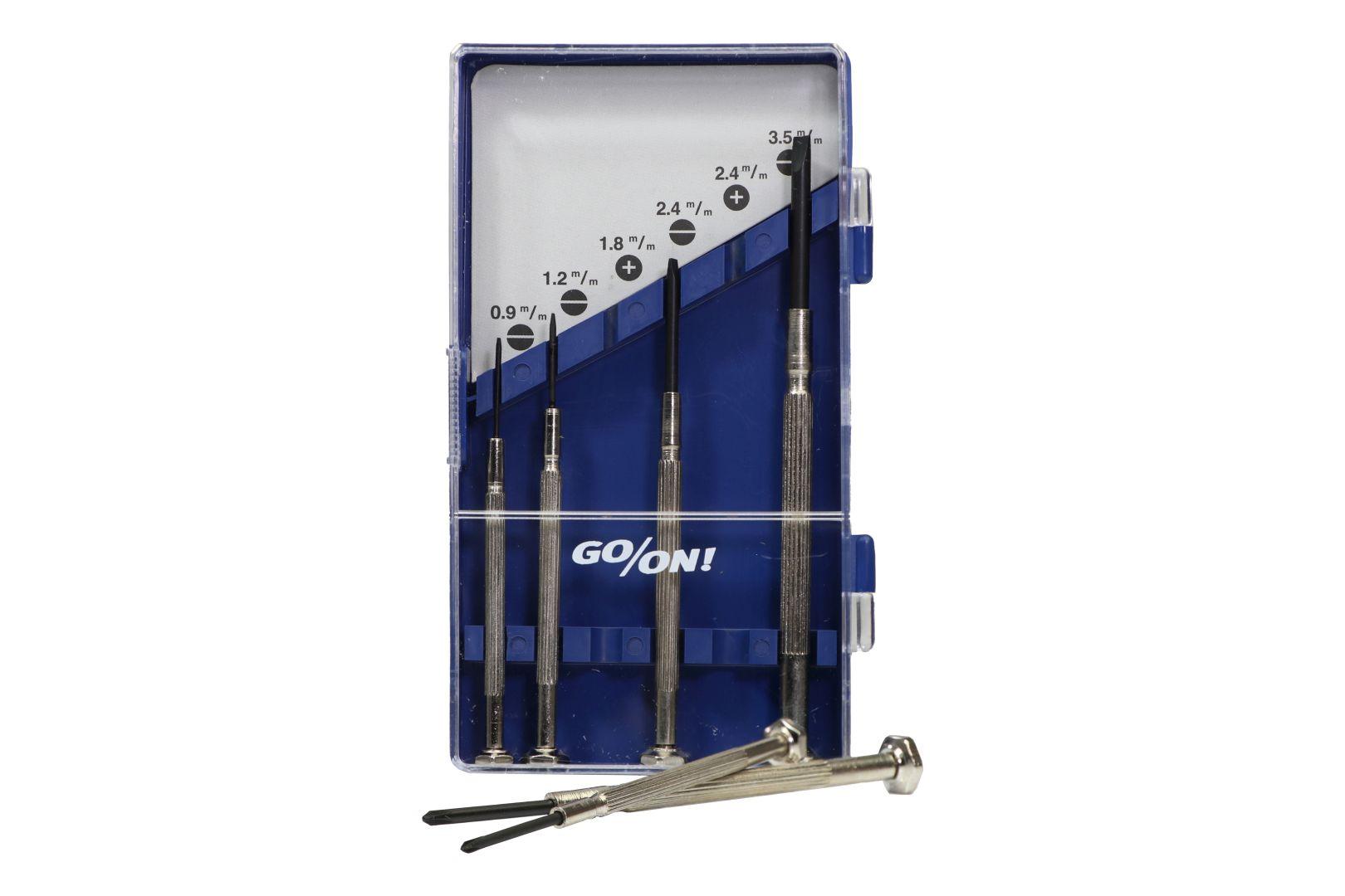 GO/ON Präzisionsschraubendrehersatz, aus robustem Stahl, 6-teilig