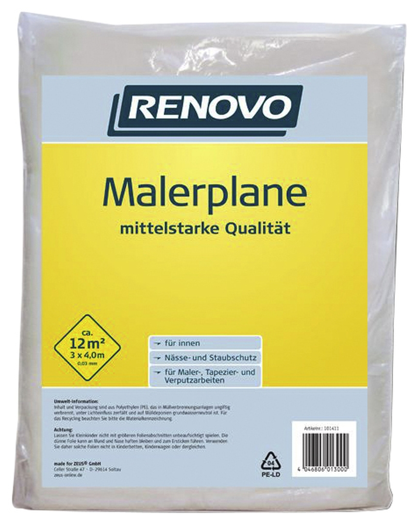 RENOVO Malerplane, 4 x 3 m x 30 µm