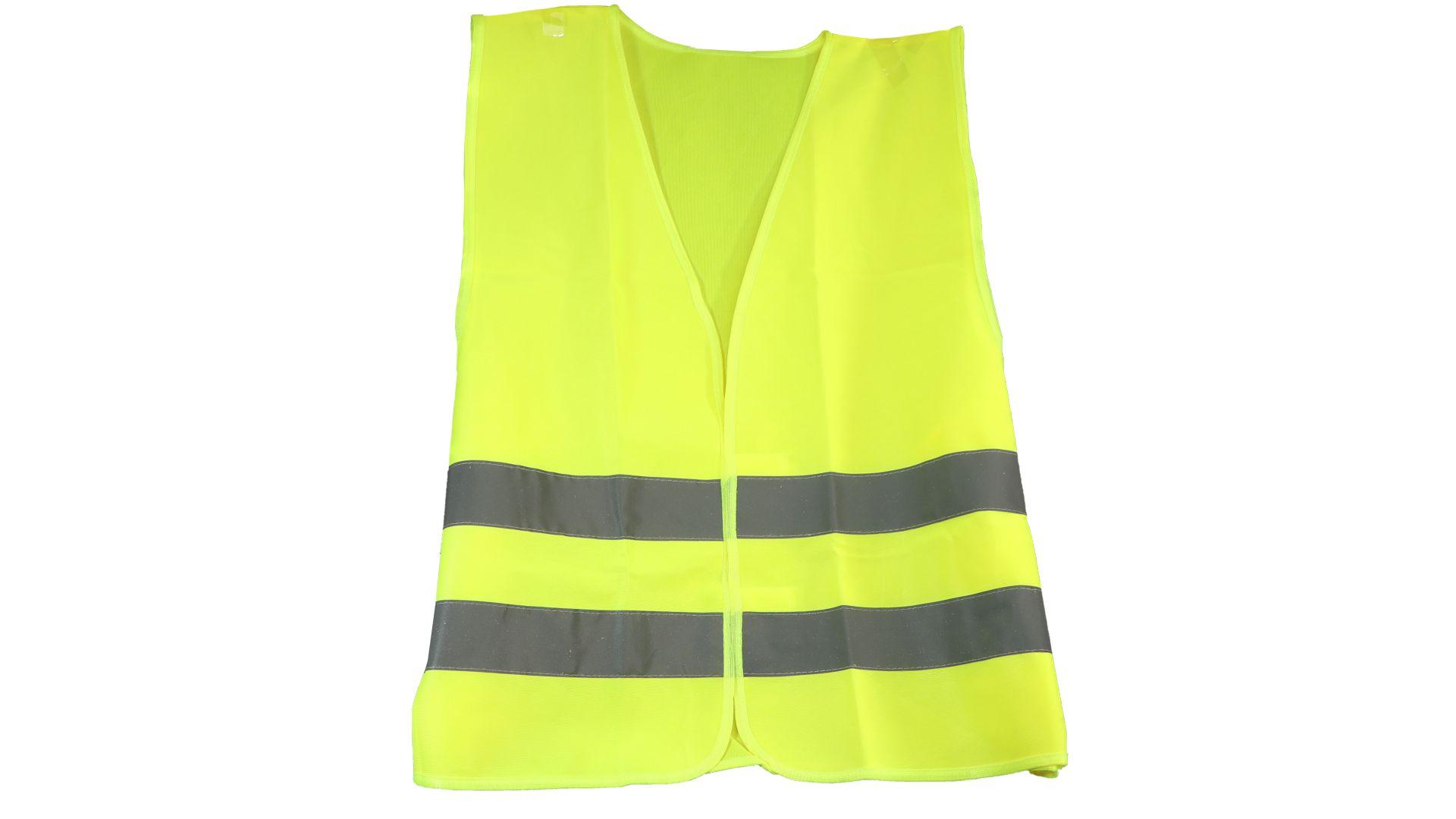 cartrend Warnweste, Pannenweste, EN ISO 20471, gelb, Universalgröße XL