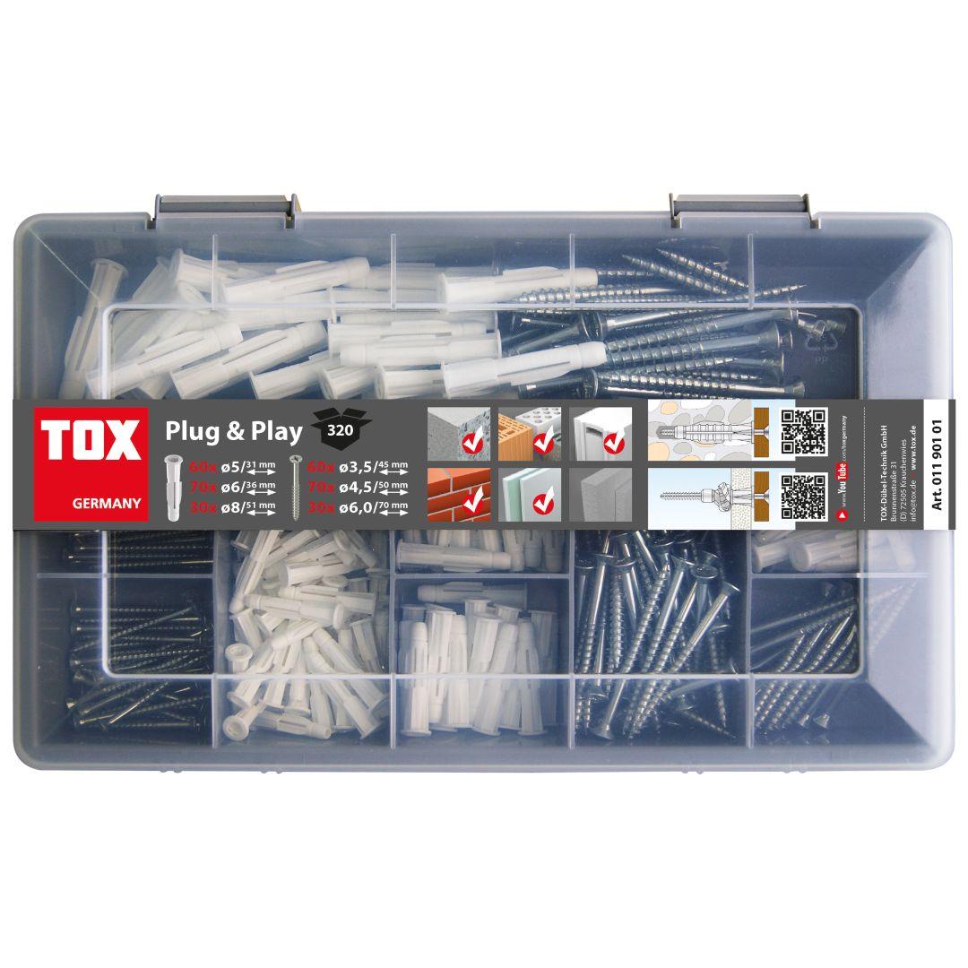 TOX Sortimentskoffer Plug & Play 320 tlg.