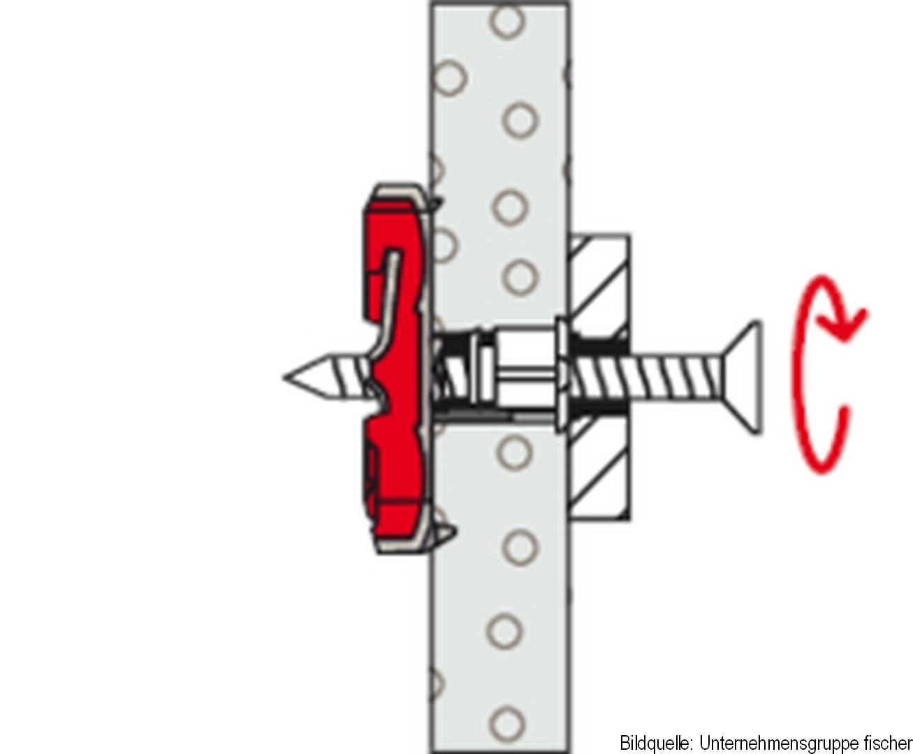 fischer Nylon-Kippdübel DuoTec, 10 x 50 mm, 2-er Pack