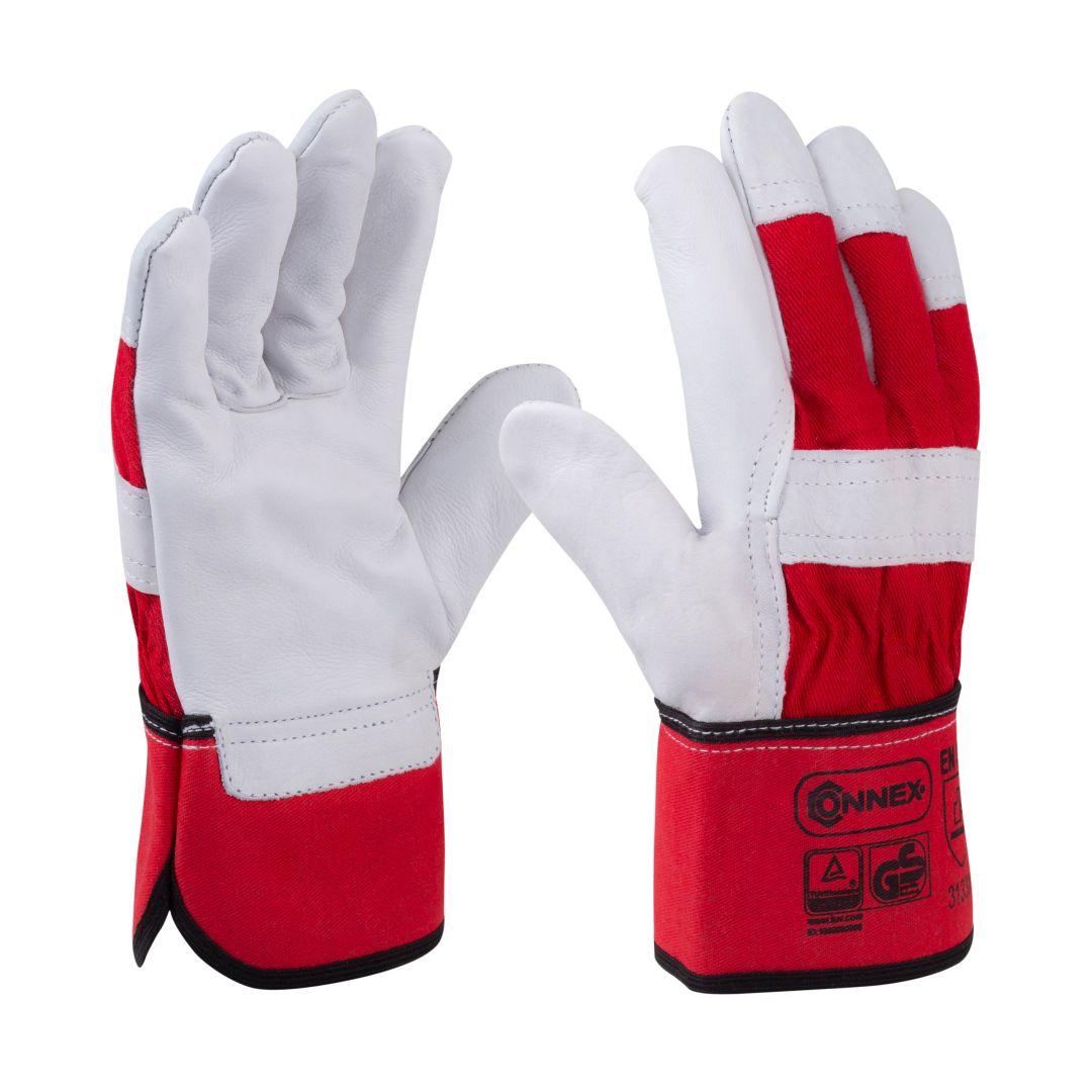 CONNEX Handschuhe, starkes Rindvollleder, Größe 8
