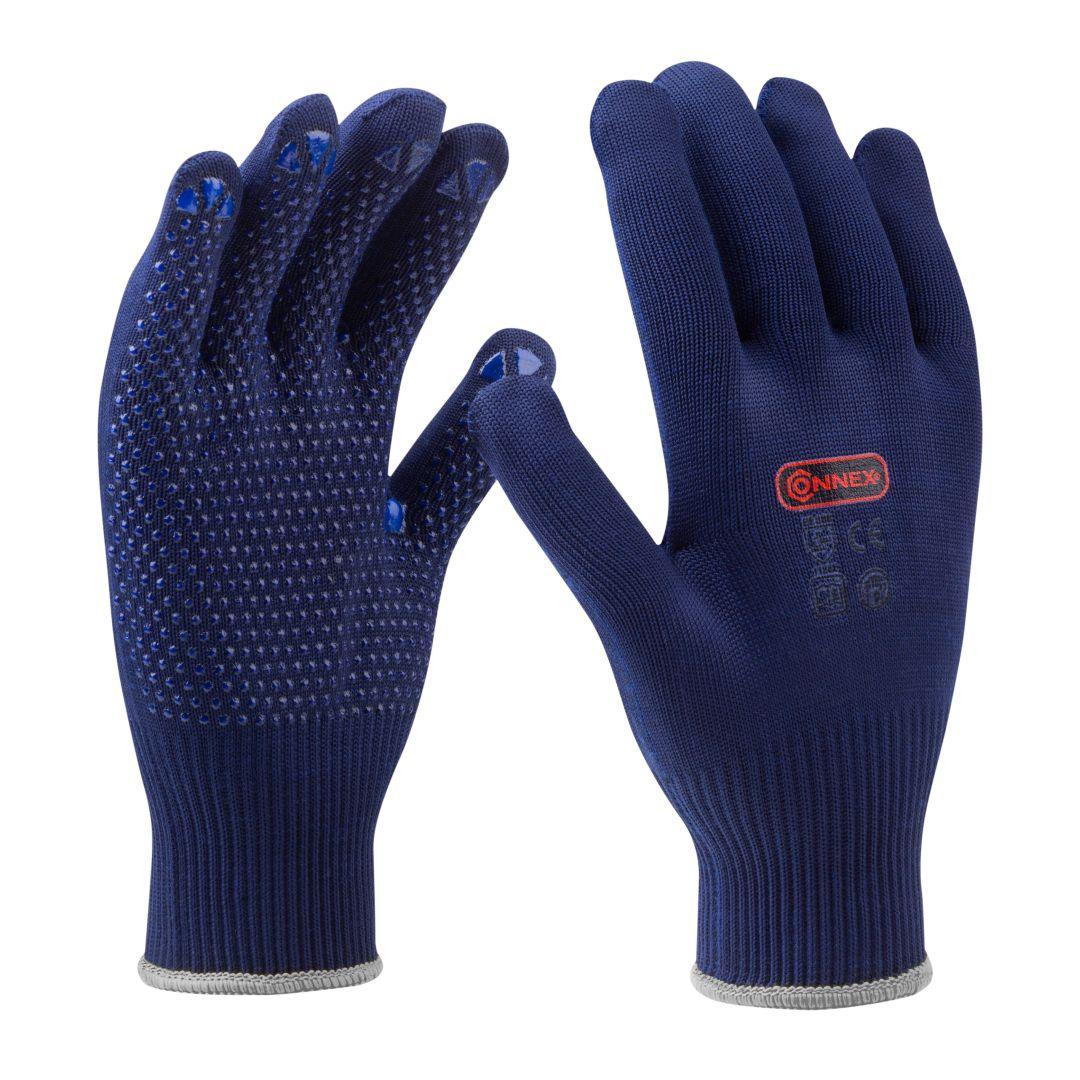CONNEX Handschuhe, Feinstrick, blau, Größe 9