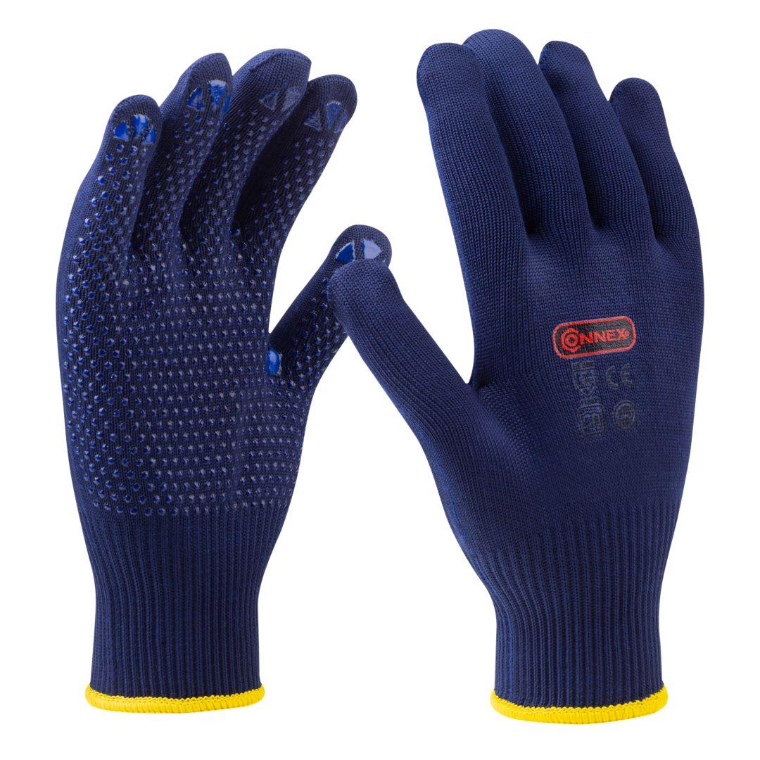 CONNEX Arbeitshandschuhe, Feinstrick, blau, Größe 10