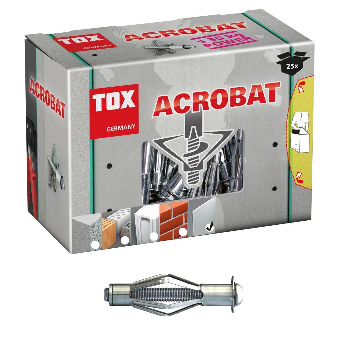 TOX Metall-Hohlraumdübel Acrobat, M4/38 mm klein, 25 Stück