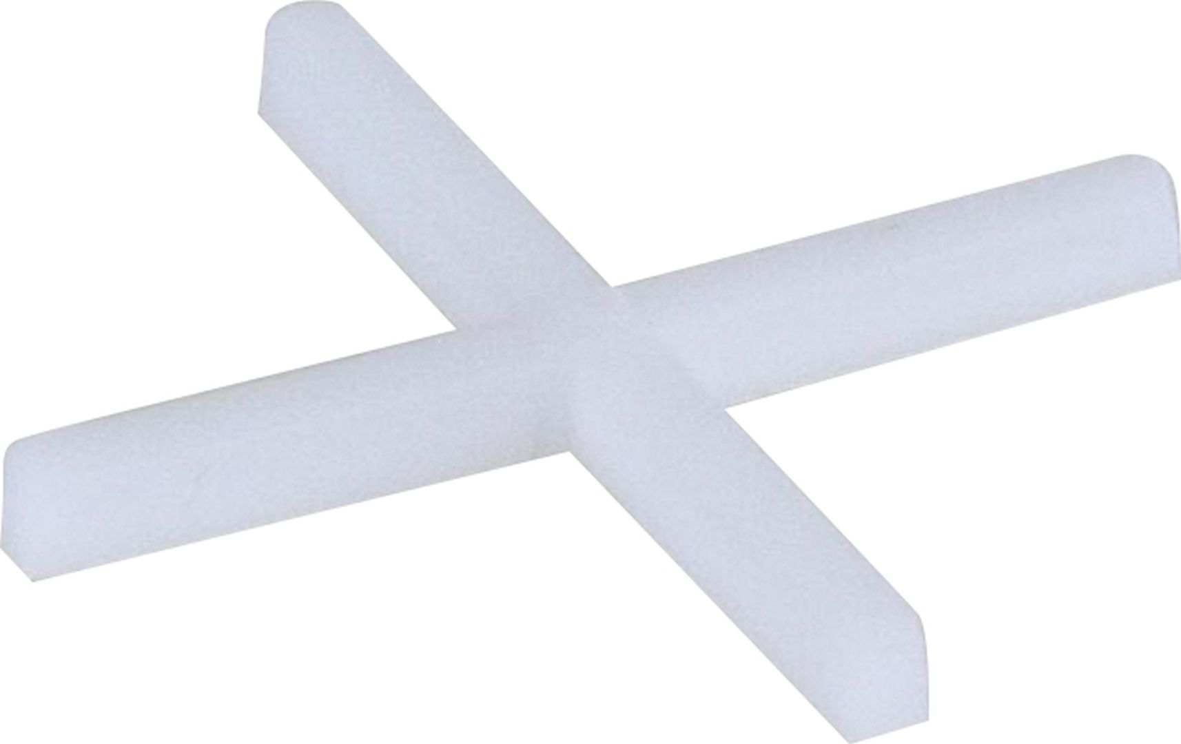 TRIUSO Fliesenkreuze aus Kunststoff, weiß, 250 Stück, 4,0 mm