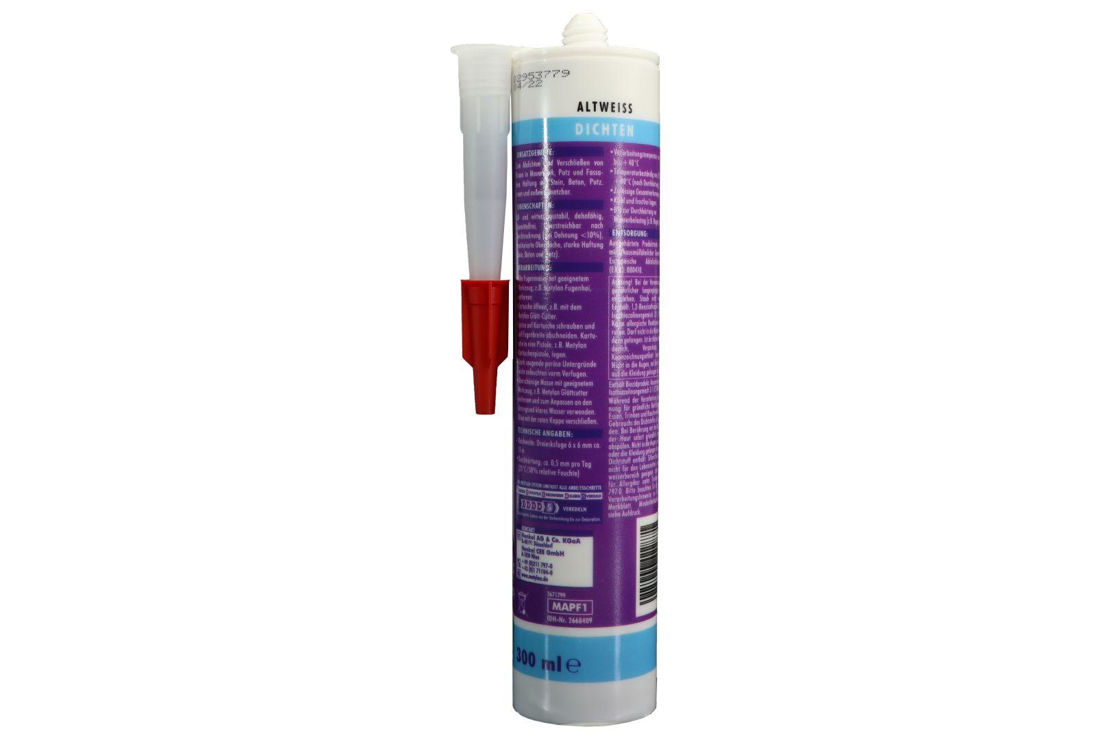 Metylan Struktur-Acryl für Wand und Decke, innen und außen, 300 ml, altweiß